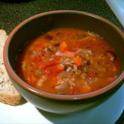 Rice and Lentil Soup or Stew recipe