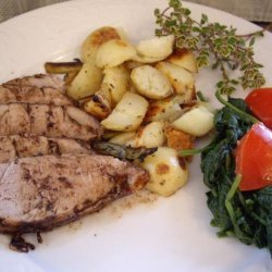 Juicy Balsamic-Glazed Pork Tenderloin With Garlic and Thyme recipe