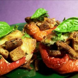 Roasted Peppers With Cheese recipe