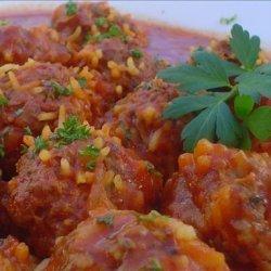 Chili Porcupine Meatballs recipe