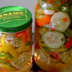 Sweet Pickled Garden Vegetables recipe