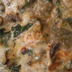 Spinach and Cheese Rice With  Mushrooms recipe