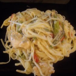 Pasta With Chicken and Asparagus recipe