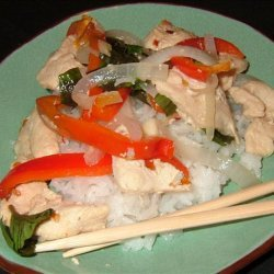 Spicy Chicken Stir Fry With Basil recipe