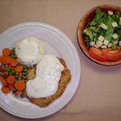 Breaded Pork Cutlet With Country Gravy recipe