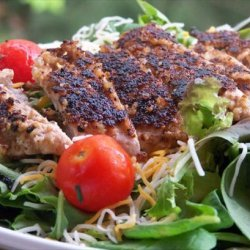 Walnut-Crusted Chicken Salad With Buttermilk Honey Dressing recipe