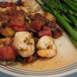 Shrimp With Tomatoes, Olives and Basil recipe