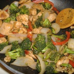 Walnut Chicken Stir-Fry recipe