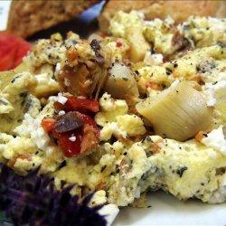 Smoked Salmon Scramble With Feta recipe
