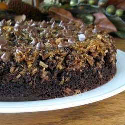 Upside Down Chocolate Chip Cake recipe