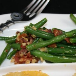 Garlic Green Beans With Bacon recipe