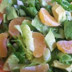 Romaine Salad With Avocado and Oranges recipe