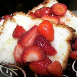 Angel Food Cake With Fresh Fruit and Lime Drizzle recipe
