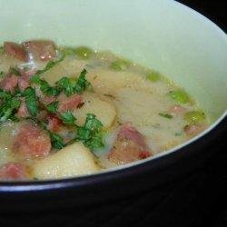 Caramelised Onion, Potato and Ham Soup recipe