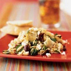 Mediterranean Orzo Salad With Feta Vinaigrette recipe