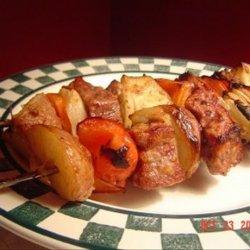 Caesar Beef Kabobs recipe