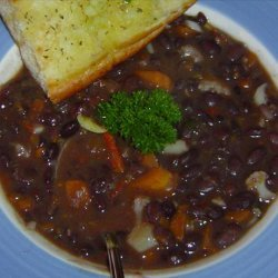 Vegan Black Bean Soup With Cilantro recipe