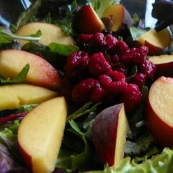 Cote D'azur Fruit and Greens Salad With Honey Lemon Dressing recipe