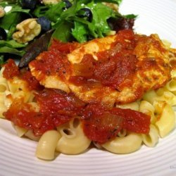 Habanero Grilled Chicken on a Bed of Pasta recipe