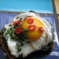 Poached Eggs With Oyster Sauce recipe