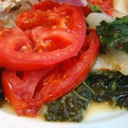 Swiss Chard With Tomato and Bacon recipe