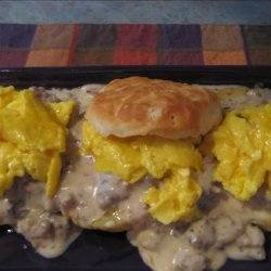 Biscuits & Gravy & Eggs Extraordinaire recipe