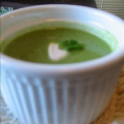 Fresh Pea Soup With Mint recipe