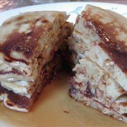 Peanut Butter Chip &  Chocolate Chip Pancakes recipe