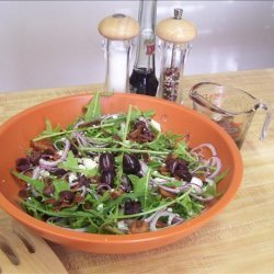Wilted Dandelion Salad With Feta Cheese recipe