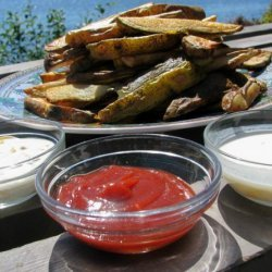 Baked Pommes Frites(Potatoes) and Kid-Friendly Dipping Sauces recipe