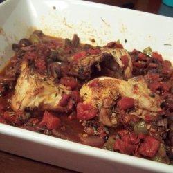 Roasted Chicken Cacciatore recipe