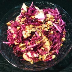 Red Cabbage, Cranberry, and Apple Slaw recipe