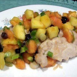 Rum Marinated Chicken With Tropical Salsa recipe