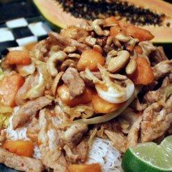 Stir-Crazy Pork and Papaya recipe