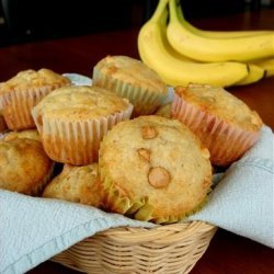 Banana Nut Peanut Butter MUFFINS recipe
