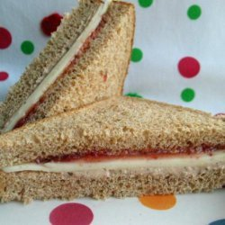 Cheesy Jam Sandwich With a Twist or Two recipe