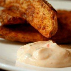 Potato Wedges With Chili Cream recipe