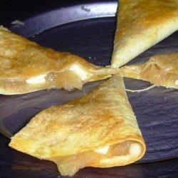 Apple or Cherry or Blueberry Pie  Quesadilla recipe