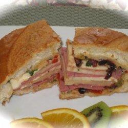 Muffuletta Olive Salad & Sandwich Recipe recipe
