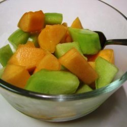 Melon Balls in Muscat recipe