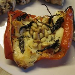 Roasted Red Peppers With Halloumi recipe