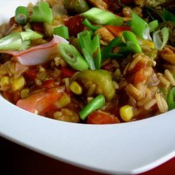 Chicken and Crab Gumbo Low Fat recipe