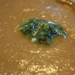 Moroccan Lentil Soup With Coriander Oil recipe