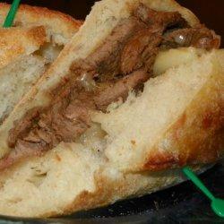 Seasoned Sirloin Steak BBQ Sandwiches recipe