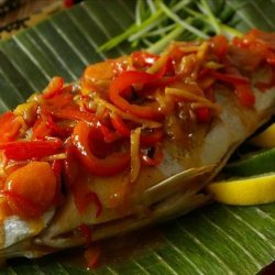 Chinese New Year Whole Fish With Sweet and Sour Vegetables recipe