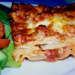 No-Boil Cheesy Lasagna (Vegetarian) With Optional Meat Sauce recipe