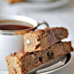 Mocha Almond Biscotti With Chocolate Drizzle recipe