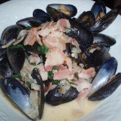 Mussels au Vin recipe