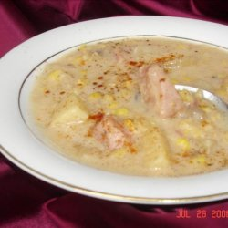 Ham, Corn, and Potato Chowder recipe