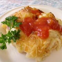 Cheesy Ham Hash Browns Casserole recipe